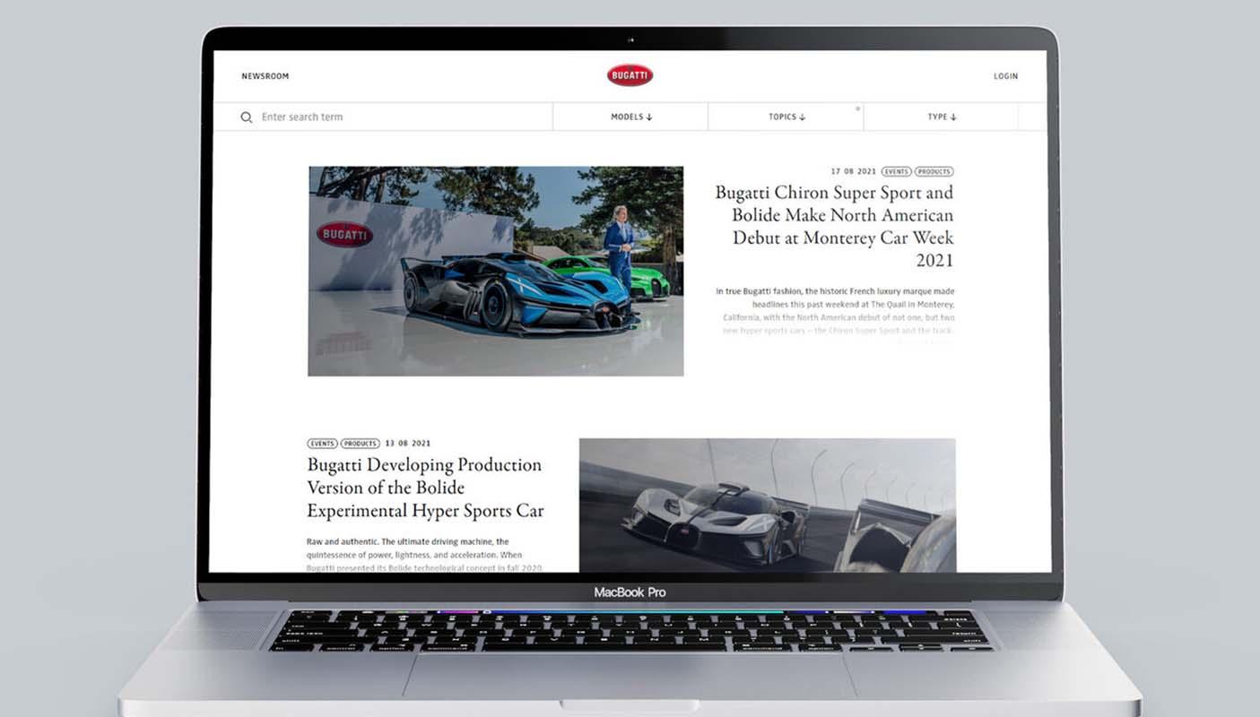 Bugatti Newsroom Wins Red Dot Award