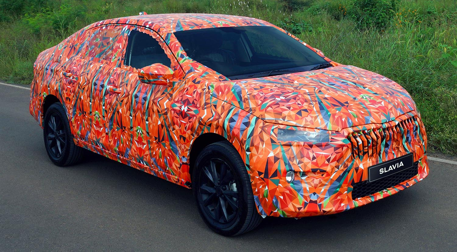 Camouflage Wrap For New ŠKODA SLAVIA Is The Result Of A Design Contest