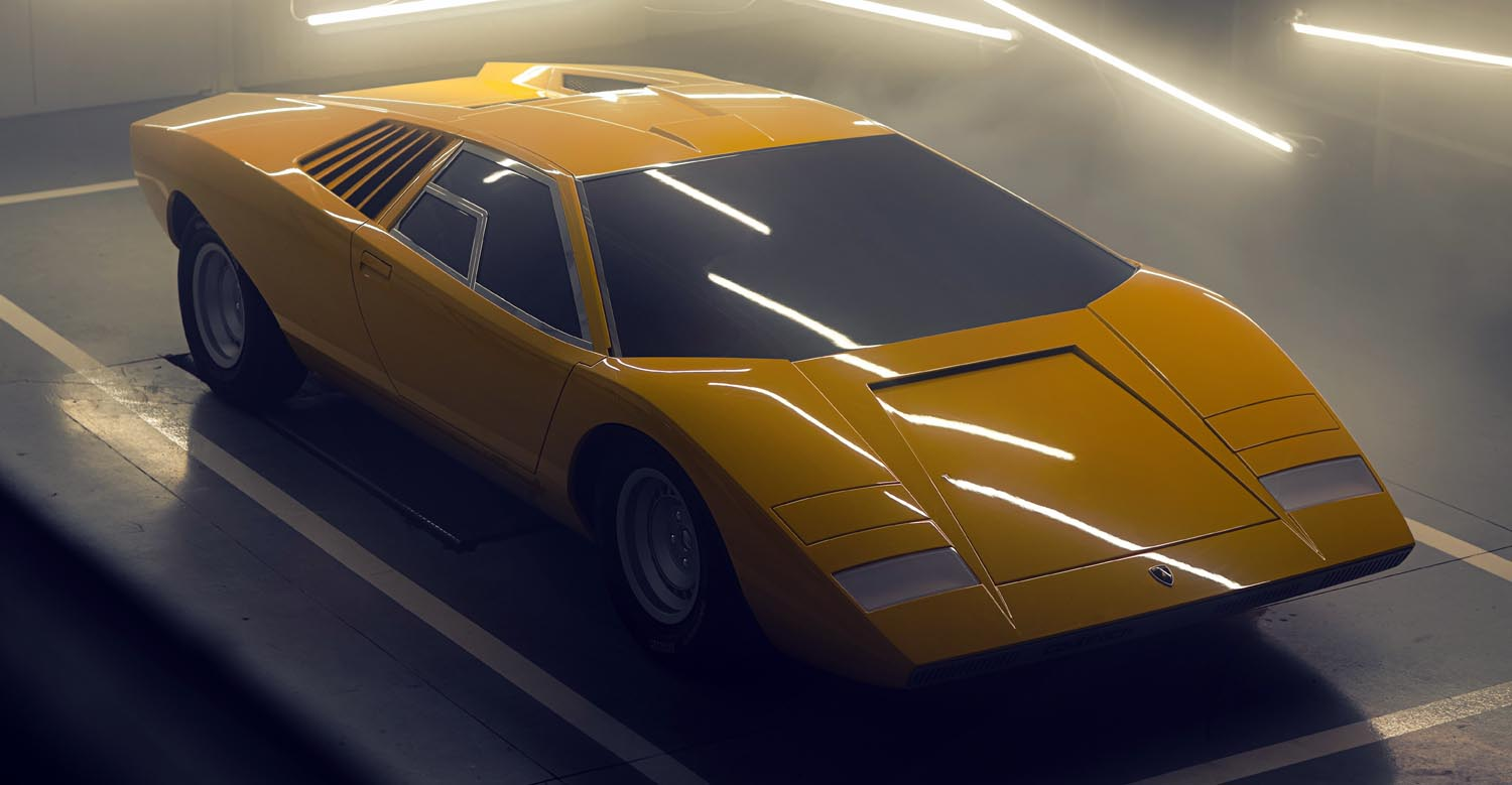 The Reconstruction Of The First Lamborghini Countach, The 1971 LP 500, Is Unveiled At Villa D'Este.