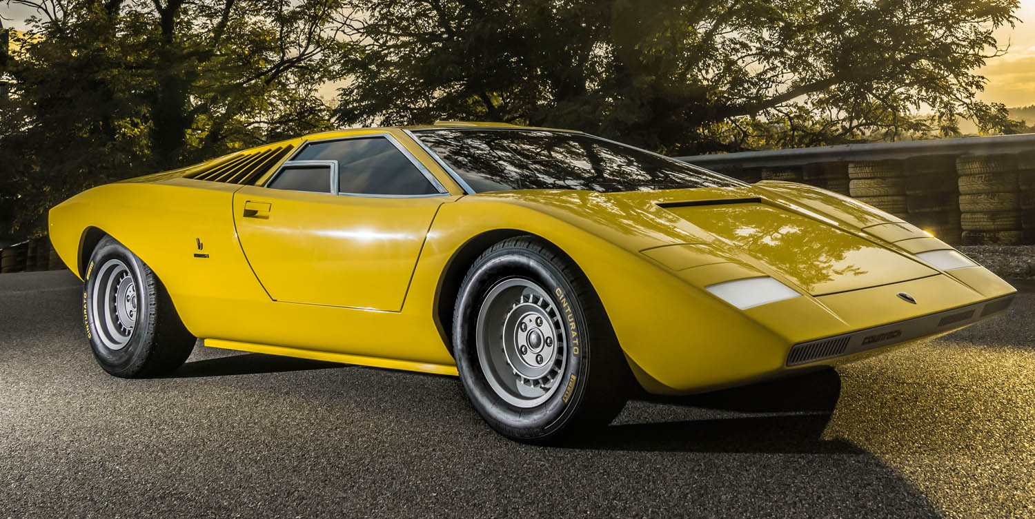The Reconstructed Lamborghini Countach LP 500 Officially Presented In A Dedicated Event