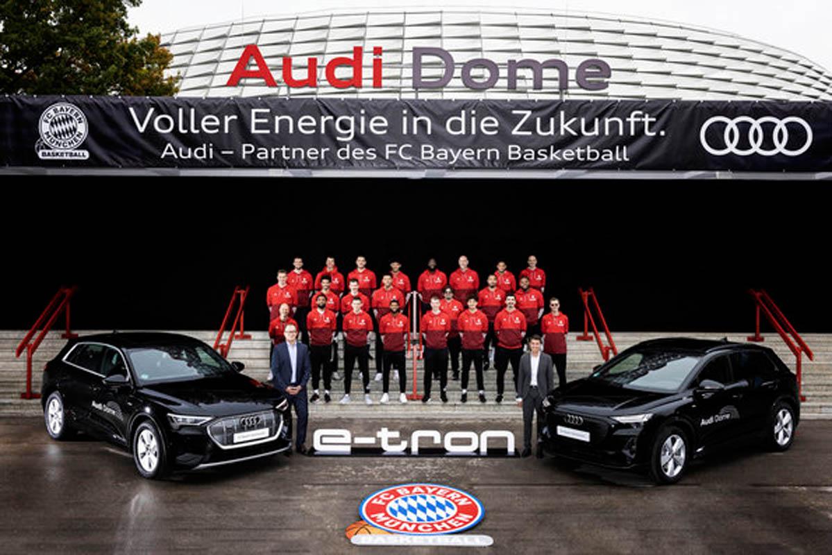 Audi Electrifies FC Bayern Basketball Players