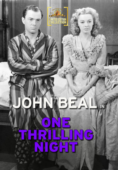 One Thrilling Night - A small town couples honeymoon in New York turns into a thrill ride filled with gangsters, stolen loot, and missing bodies.