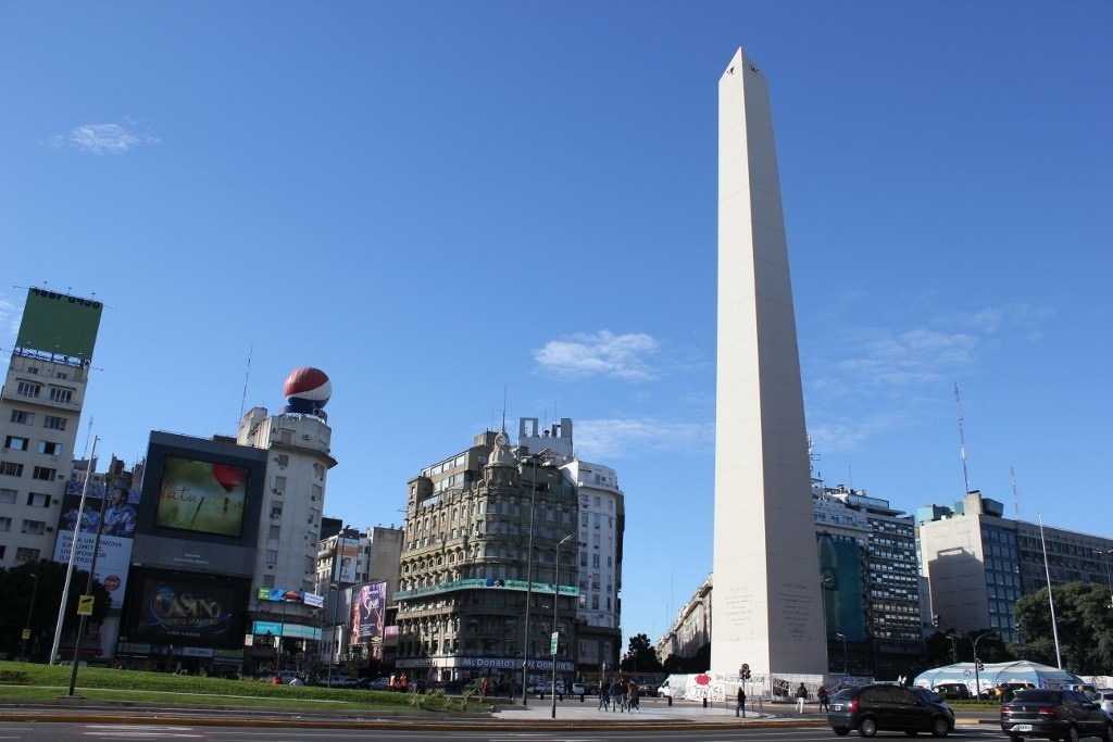The iconic Obelisco in Buenos Aires, Argentina