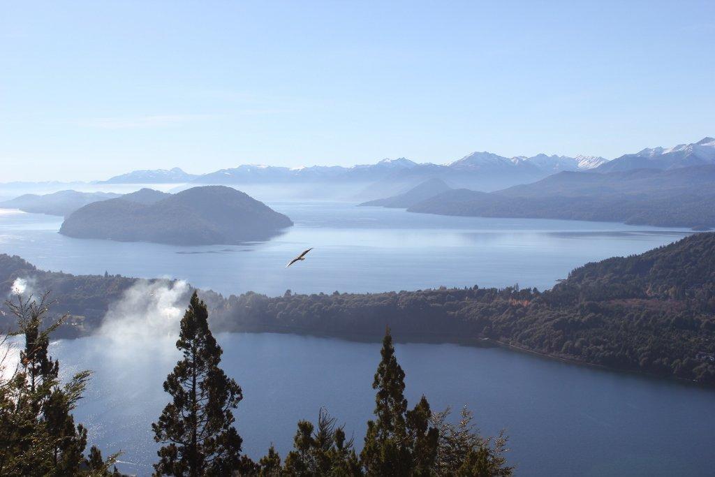 Vista from Cerro Campanario in Bariloche, Argentina