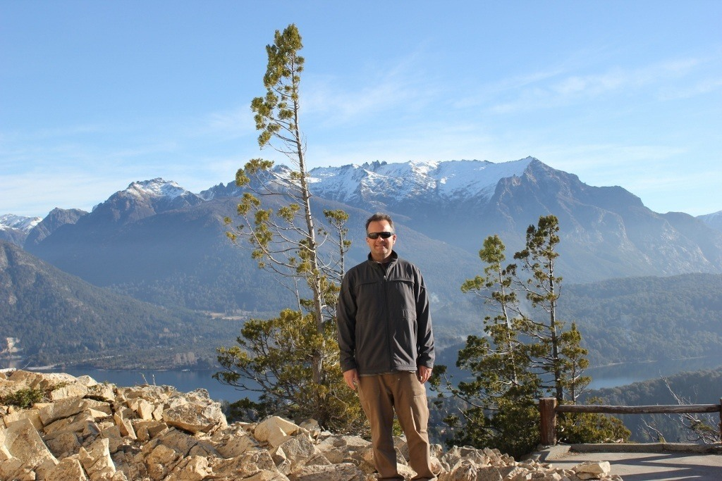 Kris at Cerro Campanario in Bariloche, Argentina