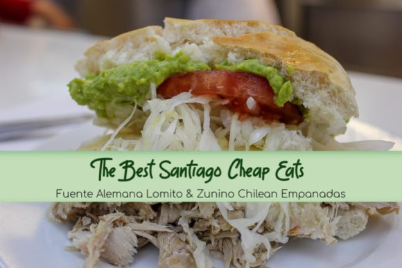 Budget Santiago Food: Fuente Alemana Lomito and Zunino Chilean Empanadas by JetSettingFools.com