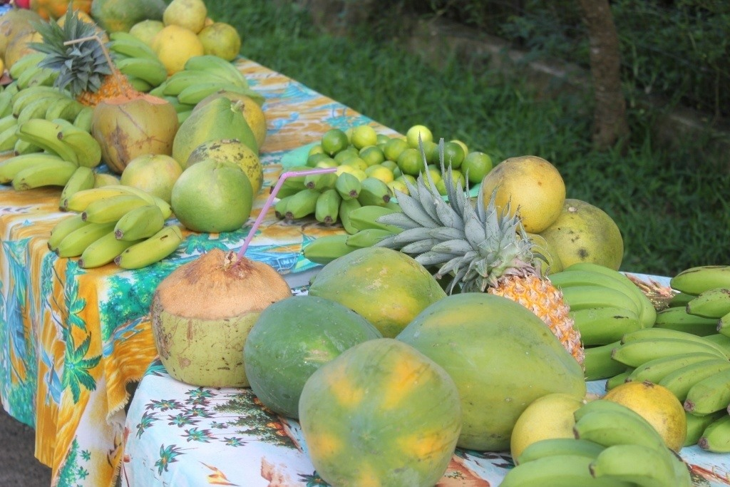 Fresh fruit from roadside stand on Moorea, French Polynesia