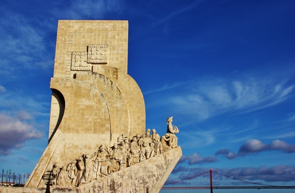 Padrao dos Descobrimentos Monument to the Discoveries in Belem near Lisbon, Portugal