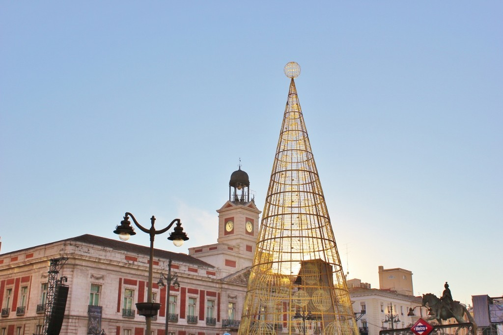 Puerto del Sol on New Year's Eve in Madrid