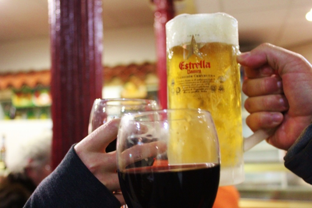 Cheers on New Year's Eve in Madrid