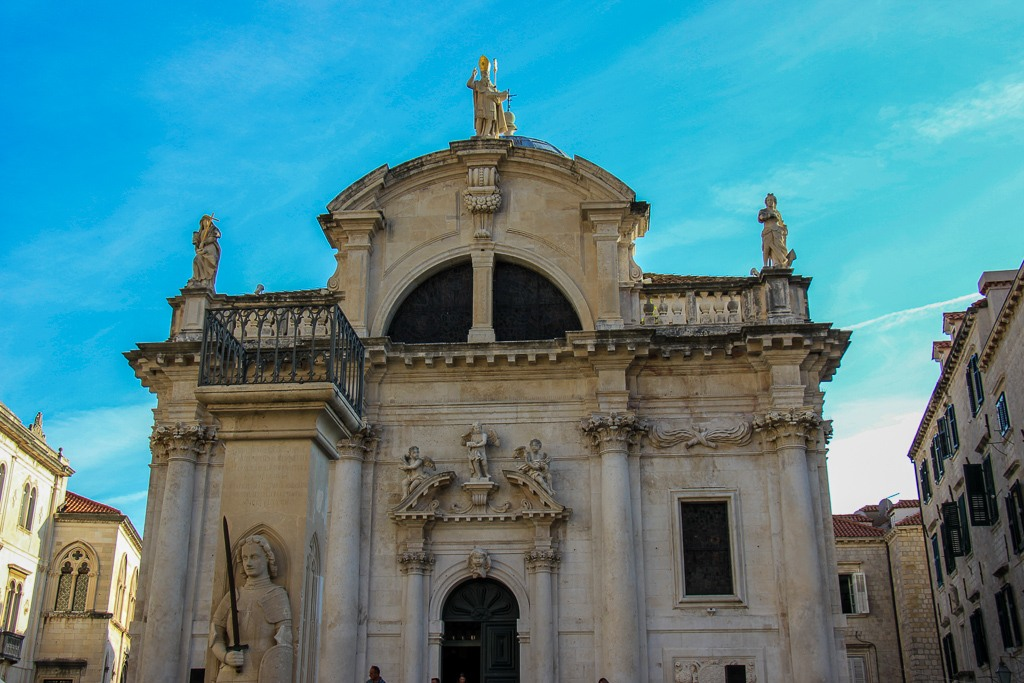 Facade of the Church of St. Blaise in Dubrovnik, Croatia
