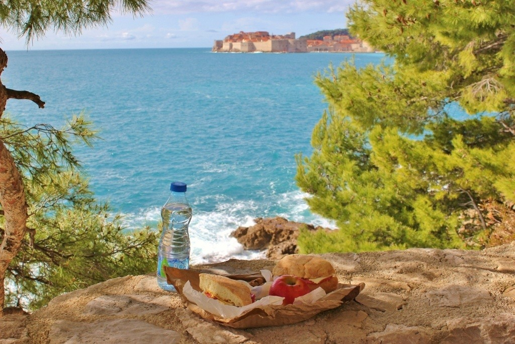 Dubrovnik viewpoint and picnic spot