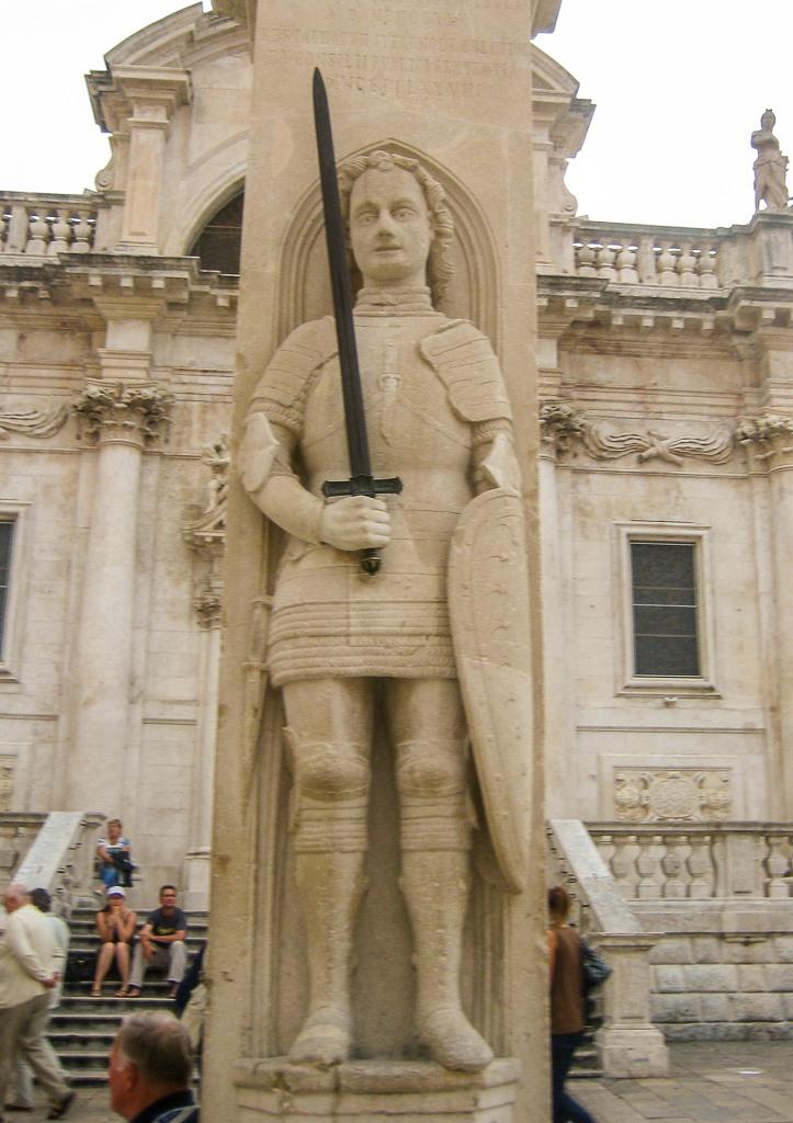 Historic Orlando's Column in Dubrovnik, Croatia