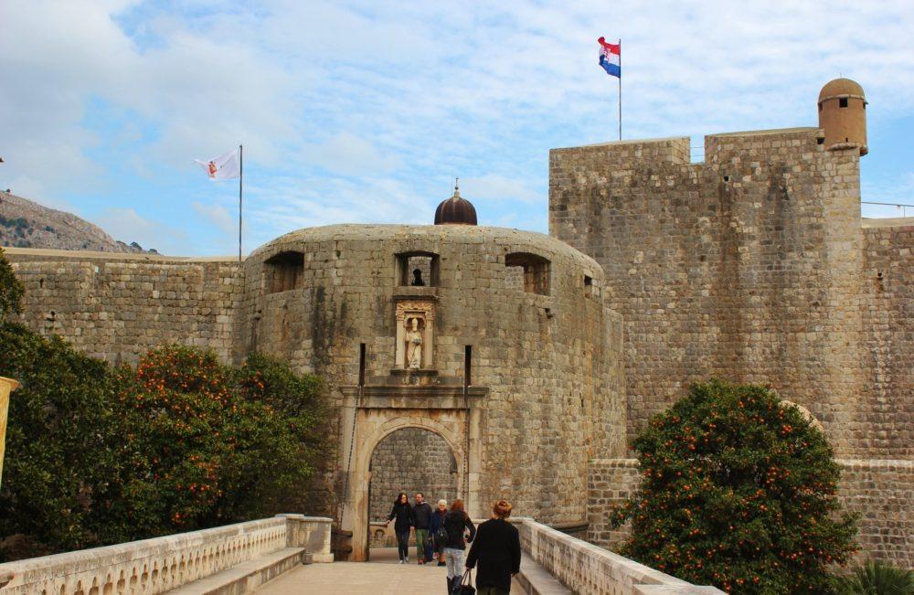 Western entrance, Pile Gate, in Dubrovnik, Croatia