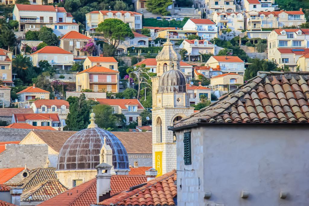 Looking over the rooftops in Dubrovnik, Croatia