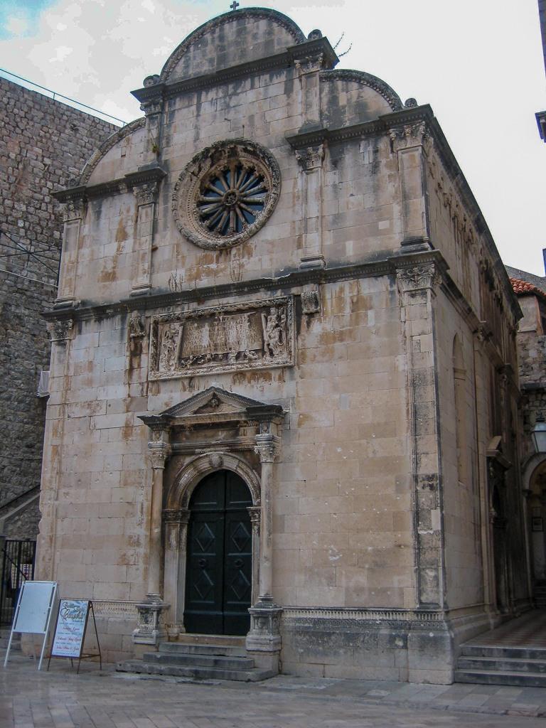 Saint Savior Church in Old Town Dubrovnik, Croatia