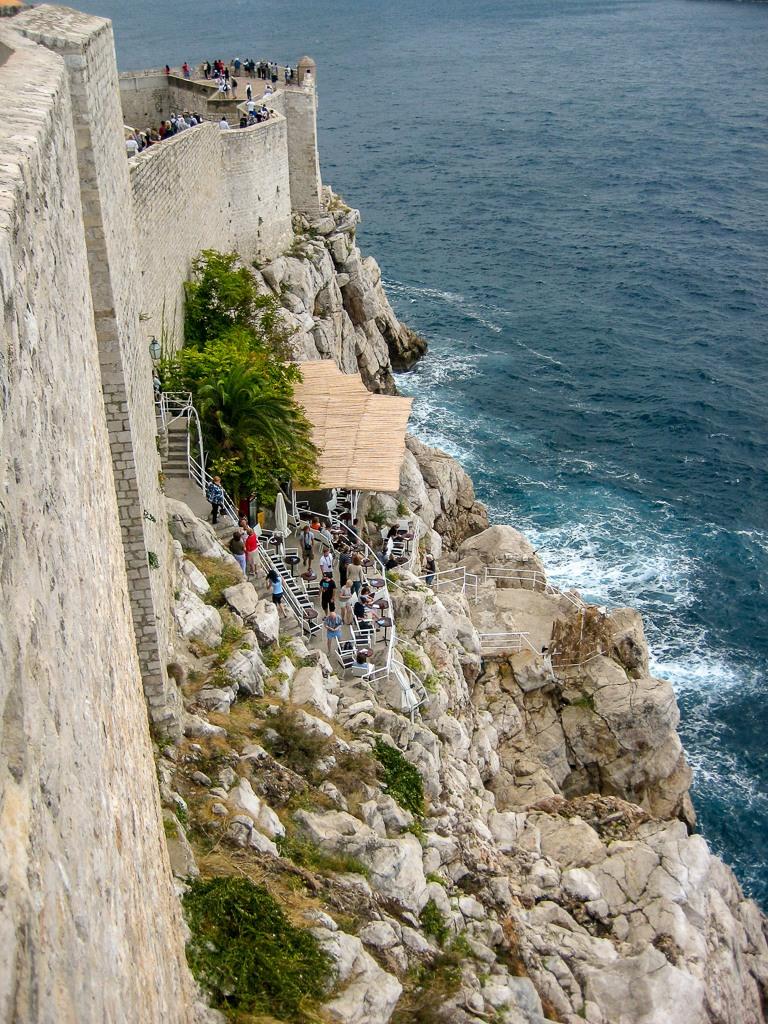 Looking down to the Buza Bar in Dubrovnik, Croatia