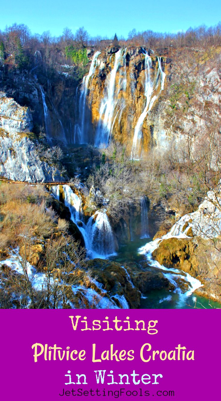 Visiting Plitvice Lakes in Winter by JetSettingFools.com