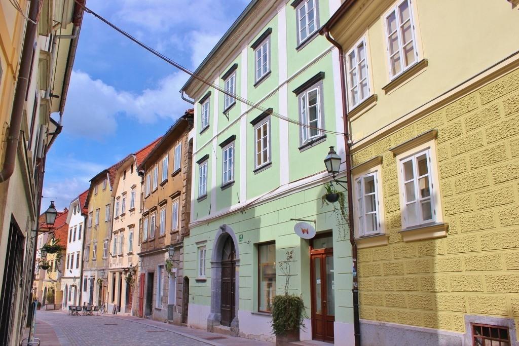 The Medieval Upper Town in Ljubljana, Slovenia