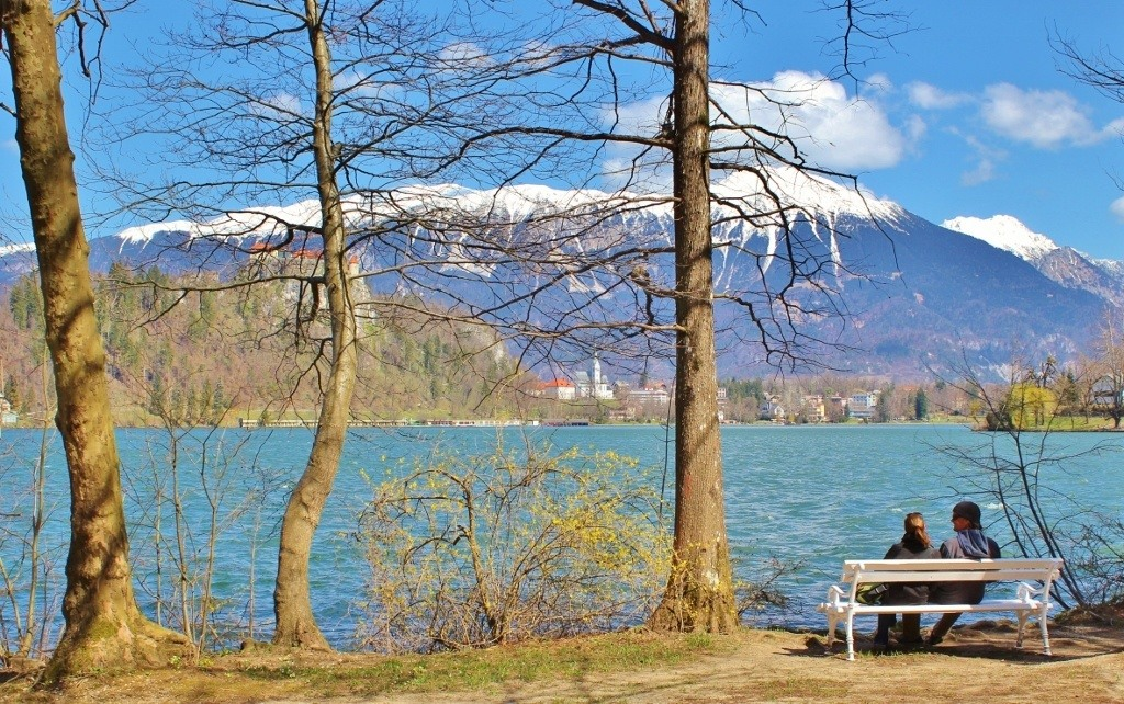 Lake Bled scenic lakeside lunch