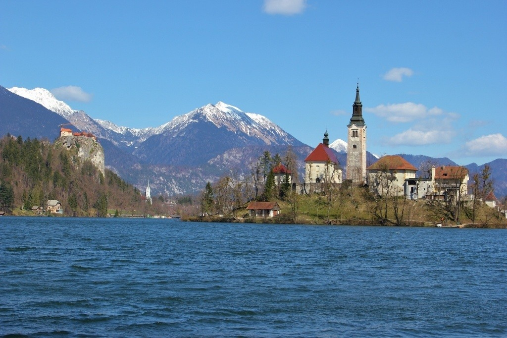 Lake Bled scenic viewpoints from the west end of the lake