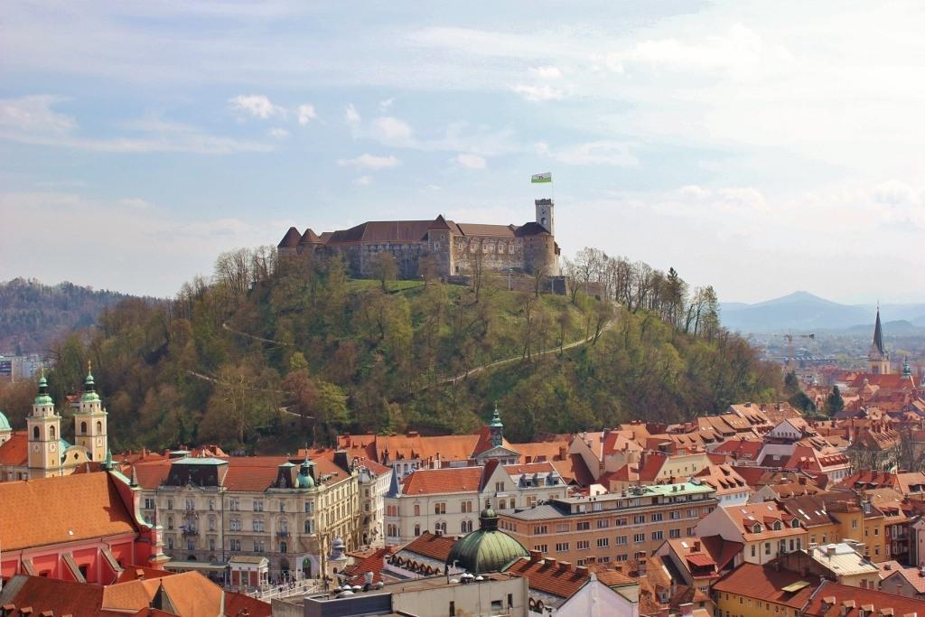 View of the city from the Skyscraper in Ljubljana, Slovenia