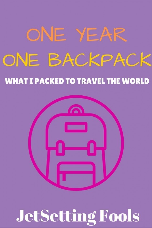 What I packed to travel the world JetSetting Fools