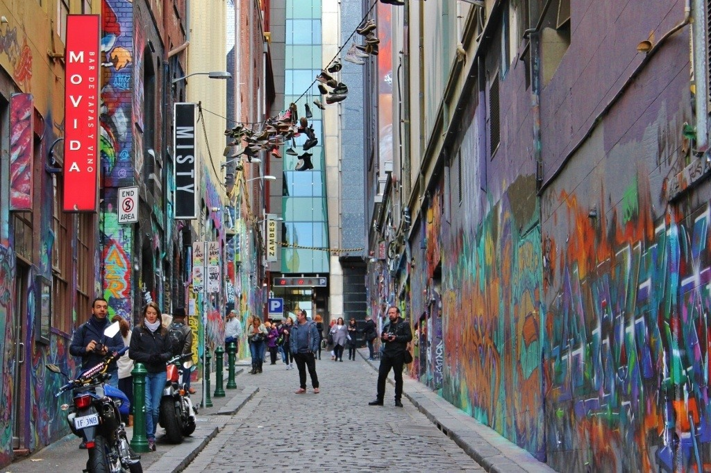 Self-guided walking tour of Melbourne: Stop 11, Hosier Lane