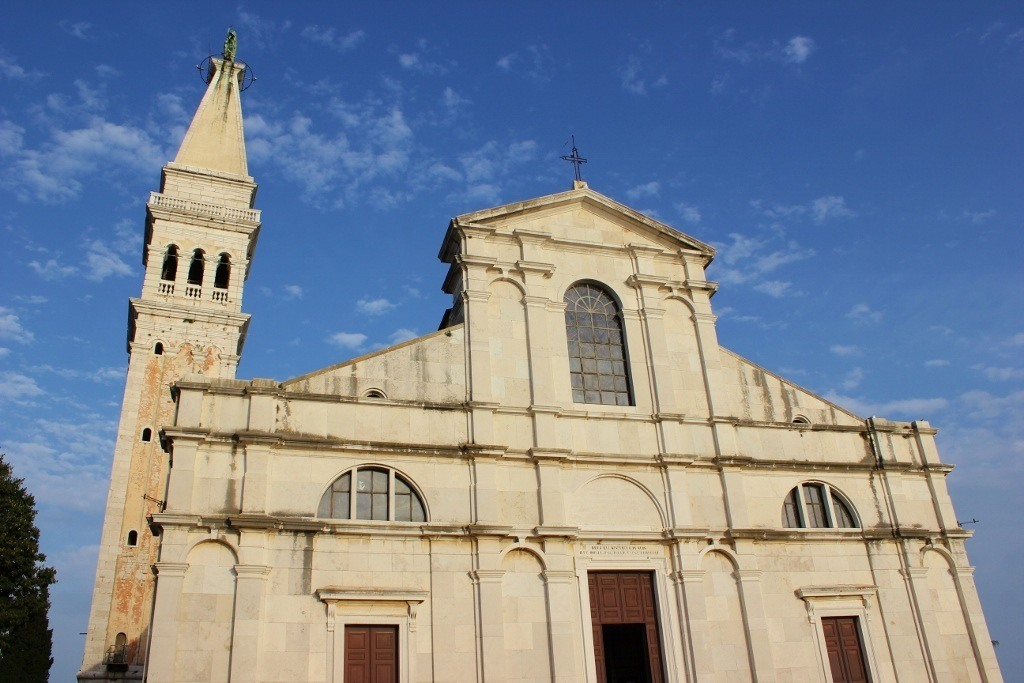 On the hilltop, St. Euphemia Church, in Rovinj, Croatia