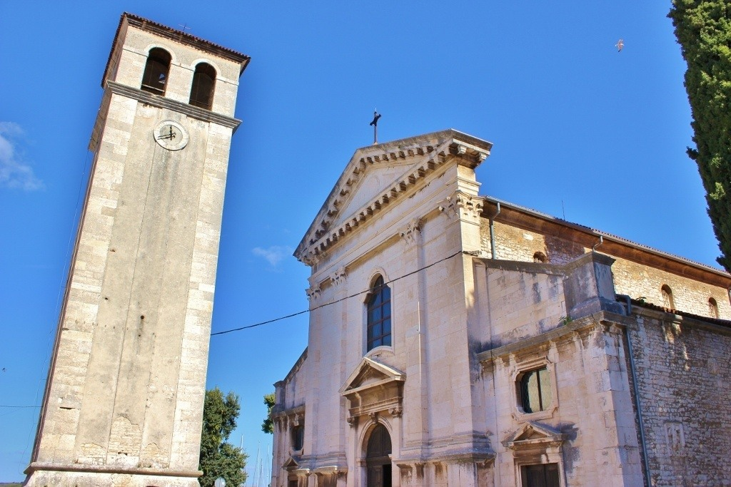 The Pula Cathedral and Bell Tower in Croatia