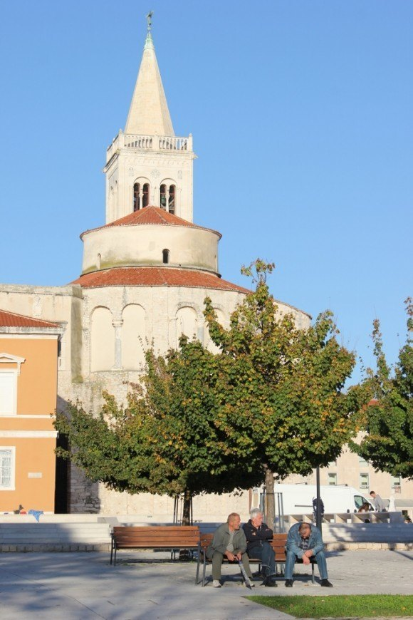 The Forum in Zadar, Croatia is strewn with 2000 year old relics - and serves as a meeting place for locals