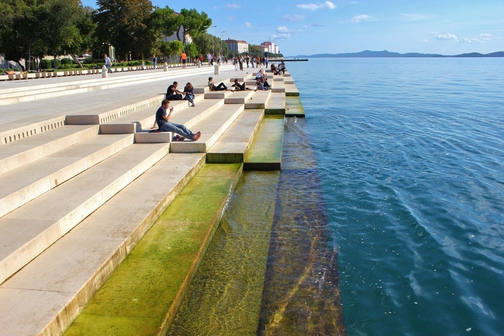 The Riva in Zadar, Croatia