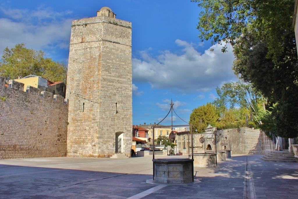 Trg 5 bunara (Five Wells Square) in Zadar, Croatia