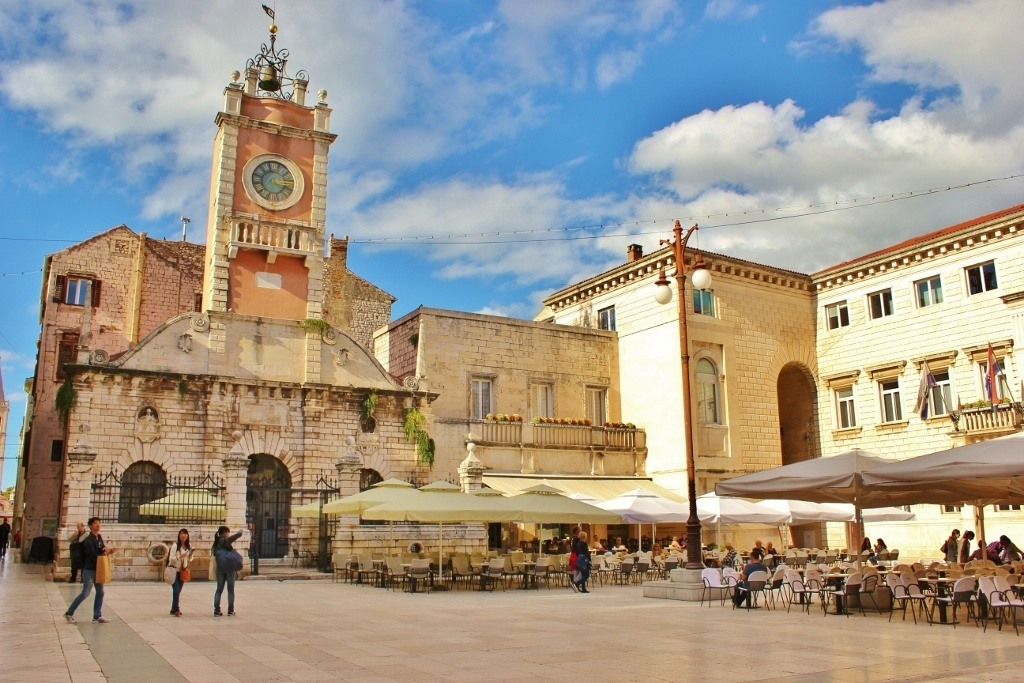 City Sentinel on Narodni trg (People's Square) in Zadar, Croatia