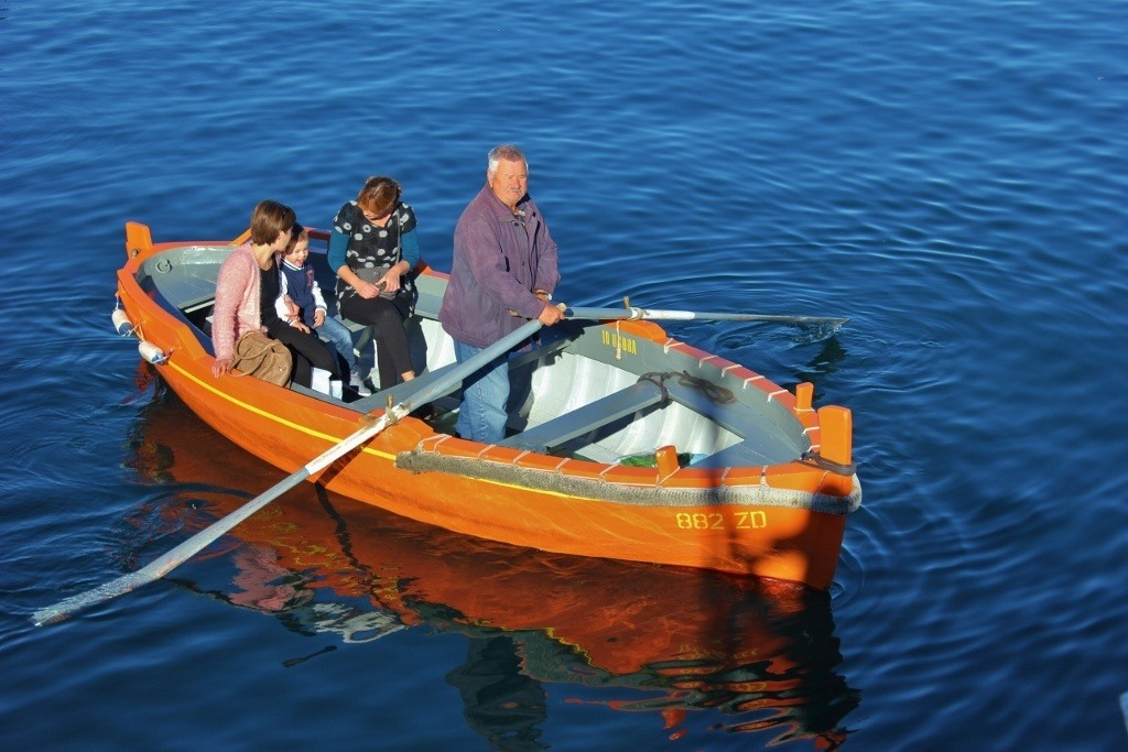 Barkajoli, taxi row boats, have been transporting people in Zadar for 800 years