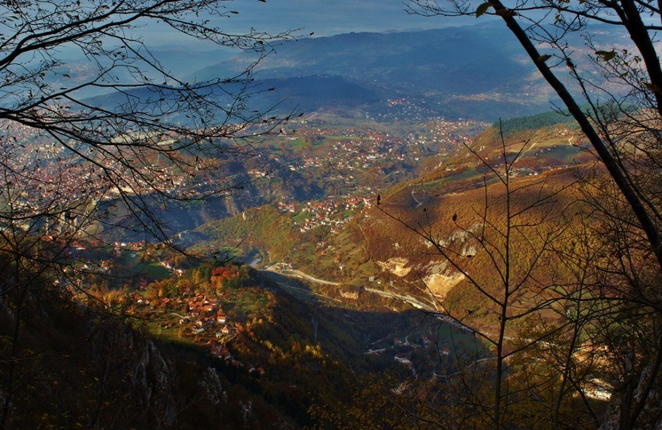 A view of Sarajevo from Trebevic Mountain