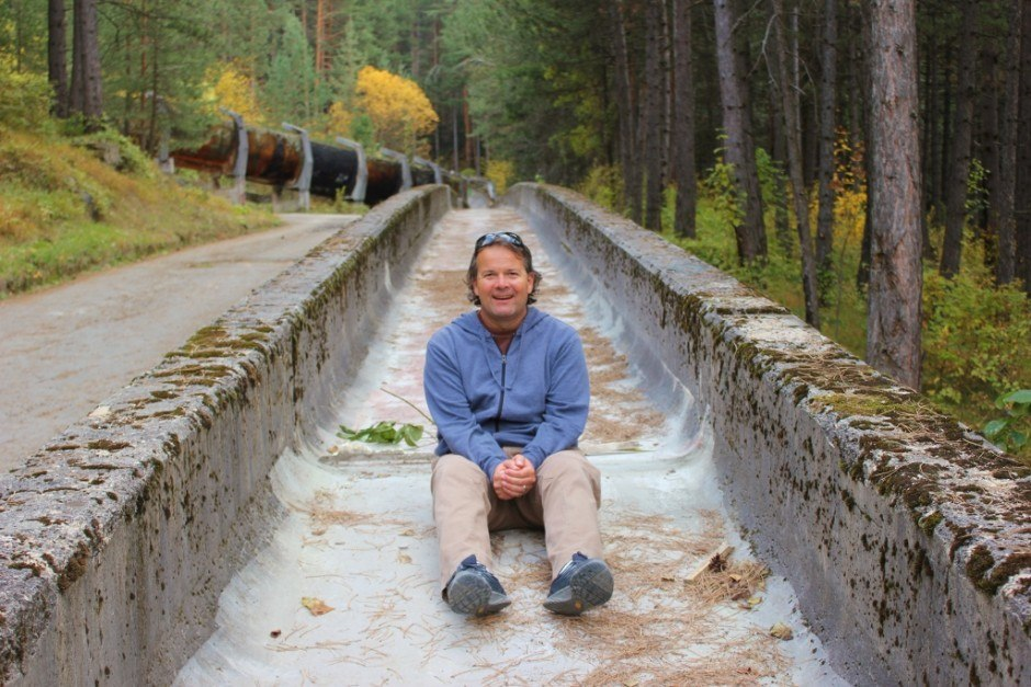 The abandoned Olympic bobsled track in Sarajevo
