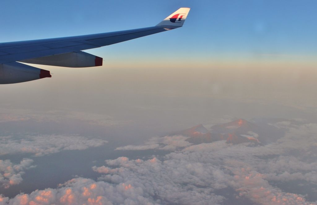 Malaysia Airlines Wing in flight JetSetting Fools