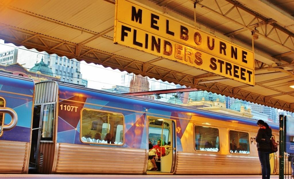 Melbourne Australia Flinders Station Train Transportation