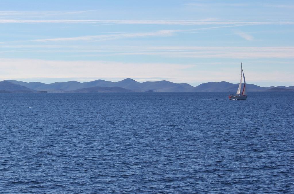 Sailboat on Adriatic Sea near Zadar, Croatia