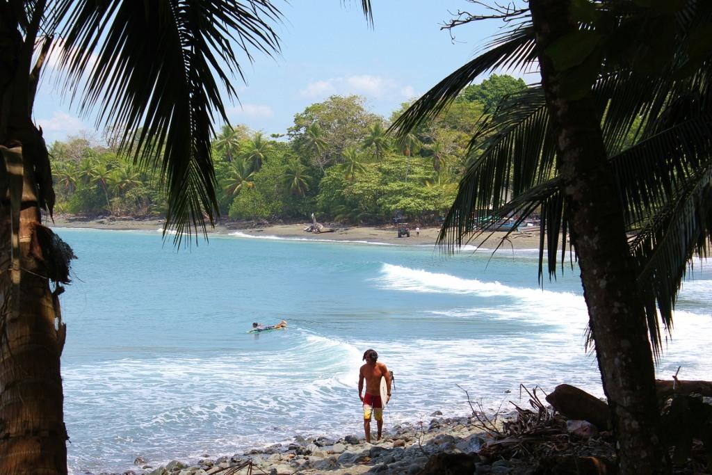 Pavones, Costa Rica Surfer on Beach JetSetting Fools
