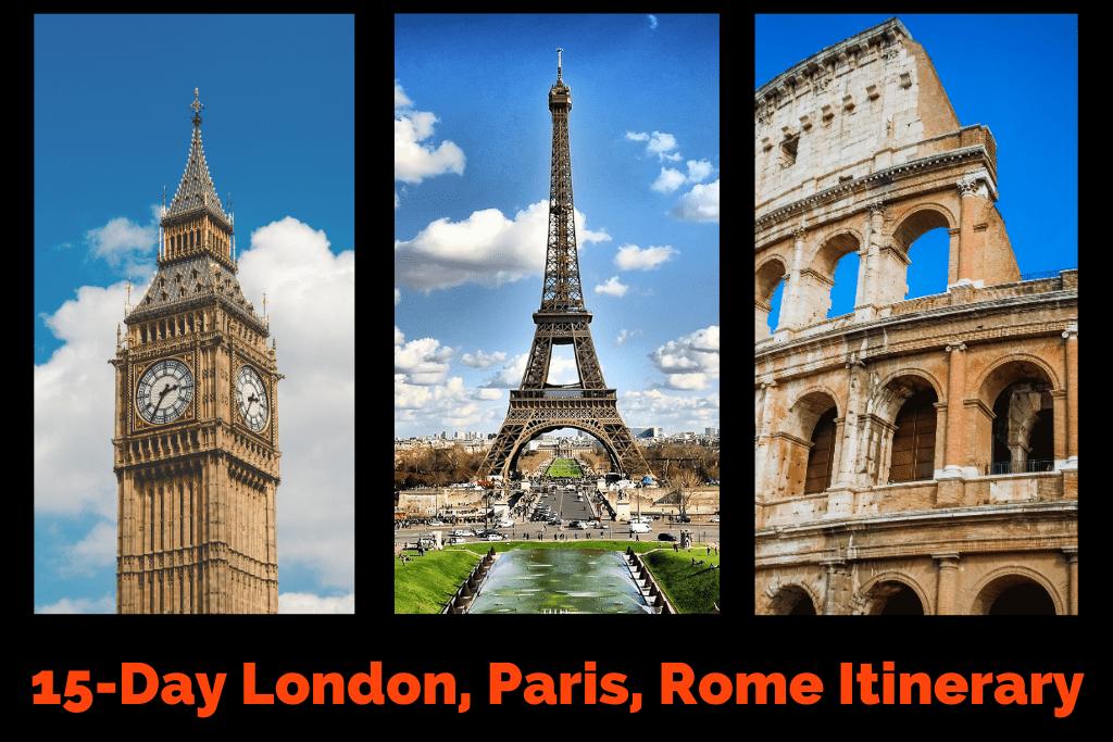 London Paris Rome Itinerary by JetSettingFools.com