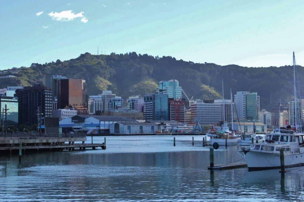 Gorgeous Sky line of Wellington, New Zealand