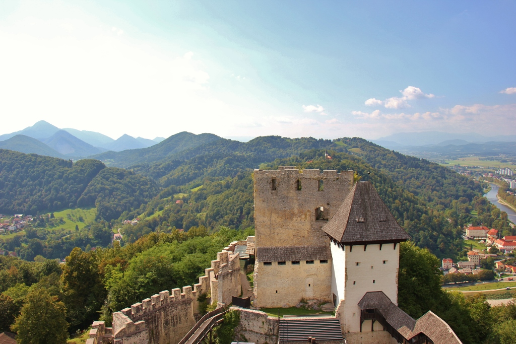Mountain and Celje Castle View from Frederick's Tower, Celje, Slovenia