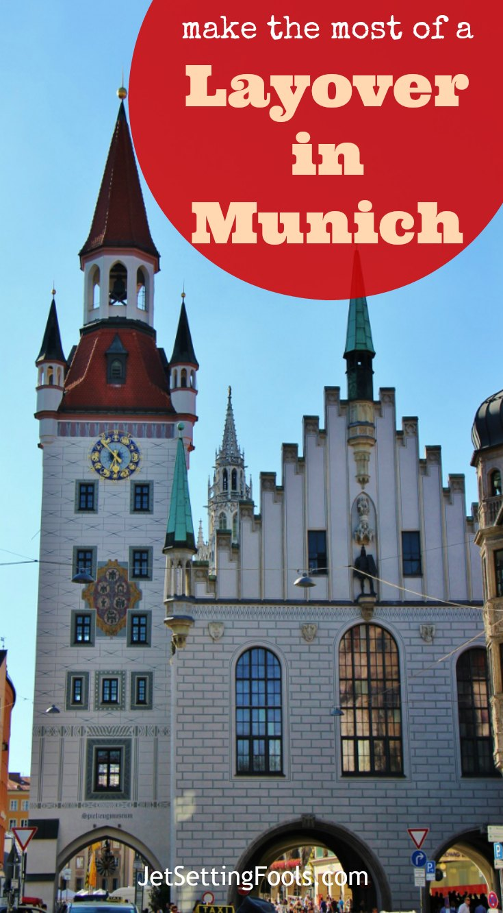 Make The Most of a Layover in Munich Altes Rathaus Old Town Hall and Talburg Gate JetSettingFools.com