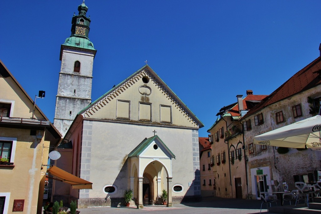 The Church of St. Jacob, or The Parish Church, is one of the sights in Skofja Loka