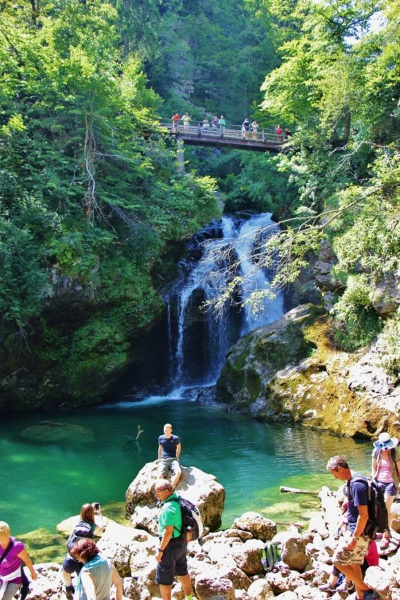 50-foot Sum Waterfall at end of Vintgar Gorge