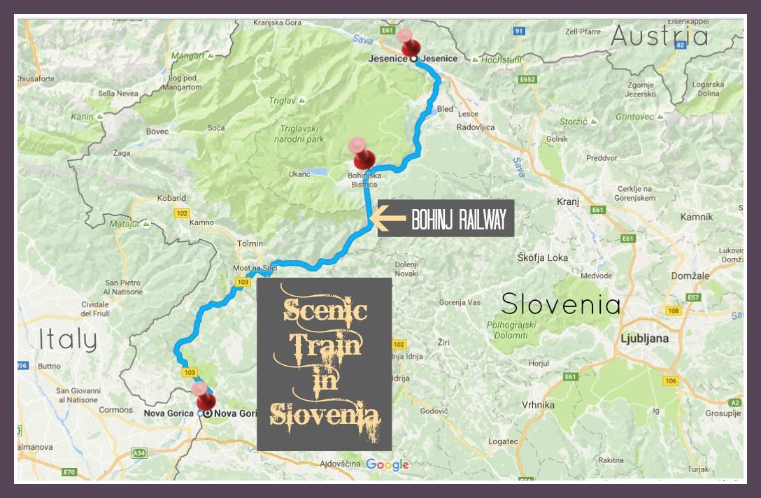 Train Route Map Scenic Train in Slovenia JetSettingFools.com