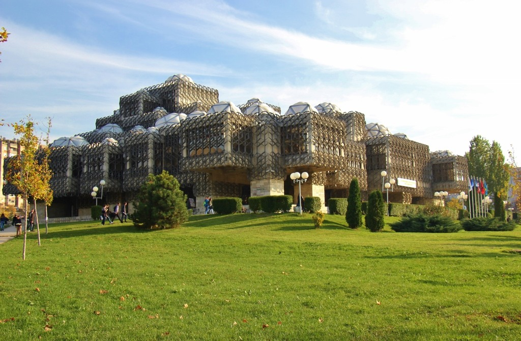 National Library of Kosovo in Prishtina, Kosovo