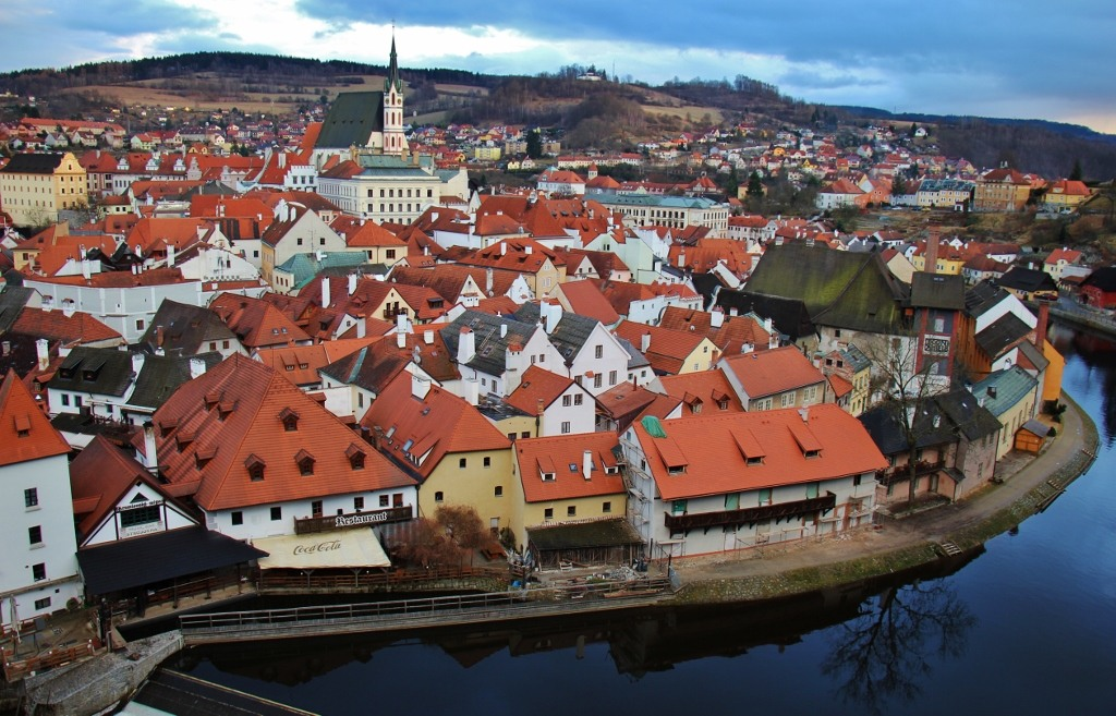 Cesky Krumlov and the Vltava River, Czech Republic